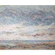 Cuadro -Marea baja en Trouville, 1865-