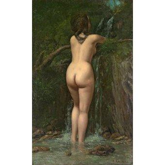 cuadros de desnudos - Cuadro -La Fuente-, de Courbet - Courbet, Gustave