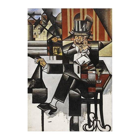 cuadros abstractos - Cuadro -Man in a cafe-