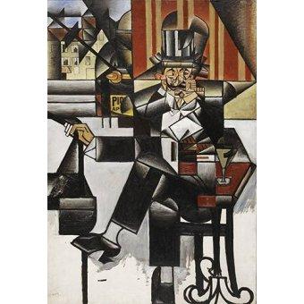 cuadros abstractos - Cuadro -Man in a cafe- - Gris, Juan