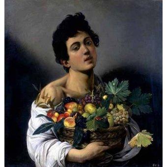 - Cuadro -Joven con cesto de fruta- - Caravaggio, Michelangelo M.