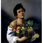 Cuadro -Joven con cesto de fruta-