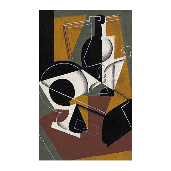 cuadros abstractos - Cuadro -Molinillo de cafe y botella-