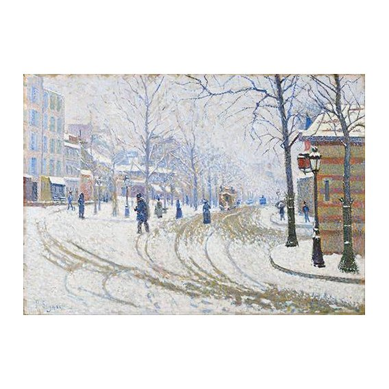 cuadros de paisajes - Cuadro -Snow, Boulevard de Clichy, Paris-