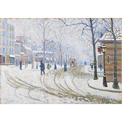 Cuadro -Snow, Boulevard de Clichy, Paris-
