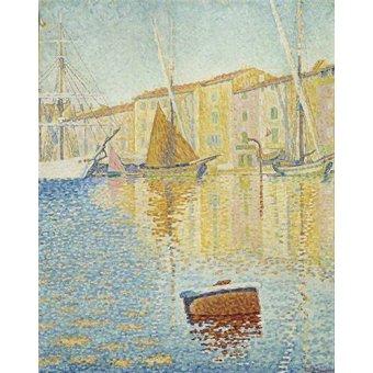 cuadros de marinas - Cuadro -La Bouée rouge, Saint-Tropez, 1895- - Signac, Paul
