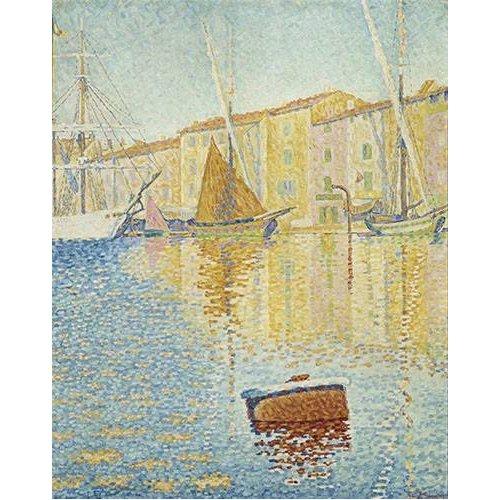 Cuadro -La Bouée rouge, Saint-Tropez, 1895-