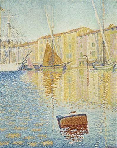 cuadros-de-marinas - Cuadro -La Bouée rouge, Saint-Tropez, 1895- - Signac, Paul