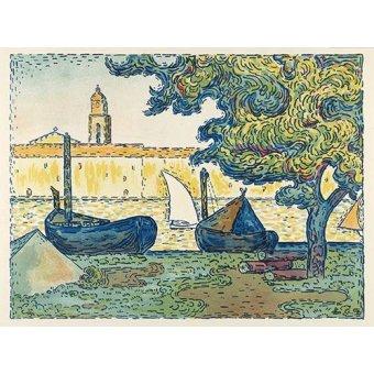 - Cuadro -Saint-Tropez- - Signac, Paul