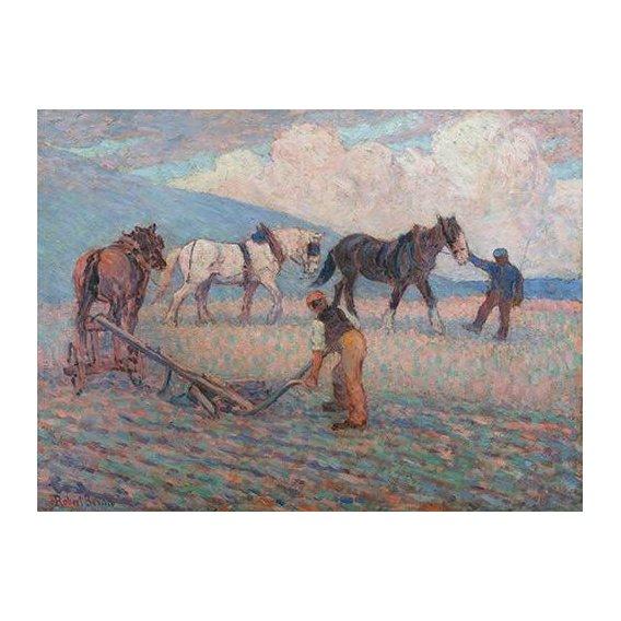 cuadros de paisajes - Cuadro -The Turn Rice-Plough, Sussex-