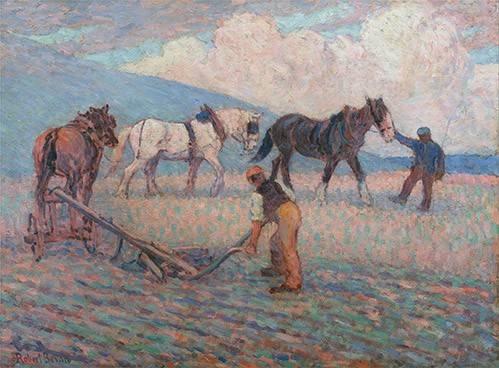 cuadros-de-paisajes - Cuadro -The Turn Rice-Plough, Sussex- - Bevan, Robert