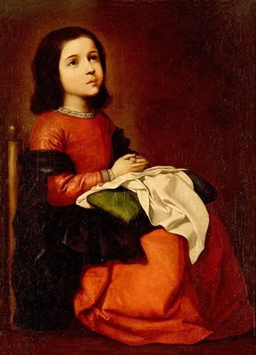 cuadros-religiosos - Cuadro -La Infancia De La Virgen- - Zurbaran, Francisco de