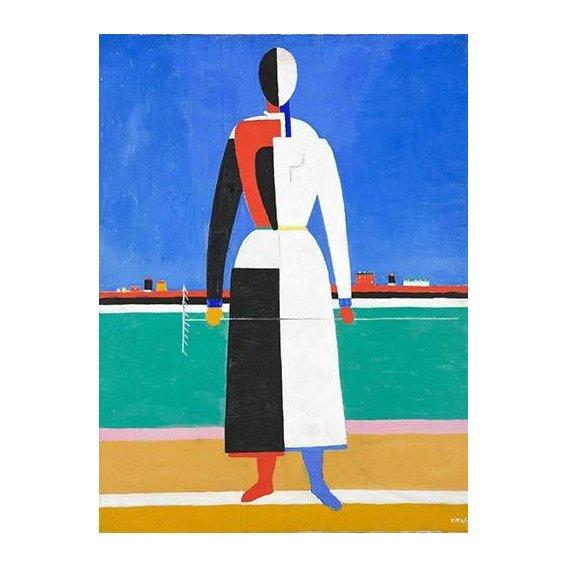 cuadros abstractos - Cuadro -Woman with rake, 1930-32-