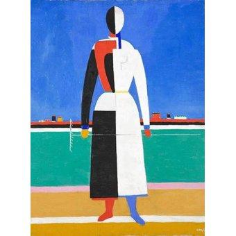 - Cuadro -Woman with rake, 1930-32- - Malevich, Kazimir S.
