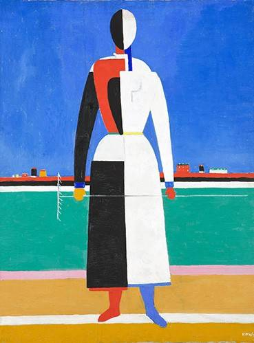 cuadros-abstractos - Cuadro -Woman with rake, 1930-32- - Malevich, Kazimir S.