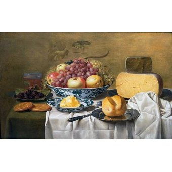 - Cuadro -Still Life of Fruit and Cheese- - Schooten, Floris Gerritz Van