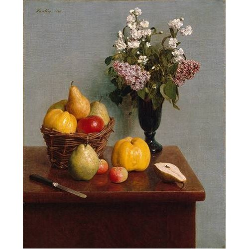 cuadros de bodegones - Cuadro -Still Life with Flowers and Fruit-