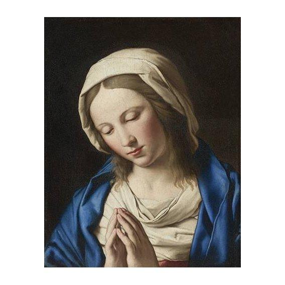 cuadros religiosos - Cuadro -La Virgen Rezando (II)-