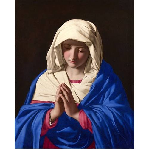 cuadros religiosos - Cuadro -La Virgen rezando, 1640-50-