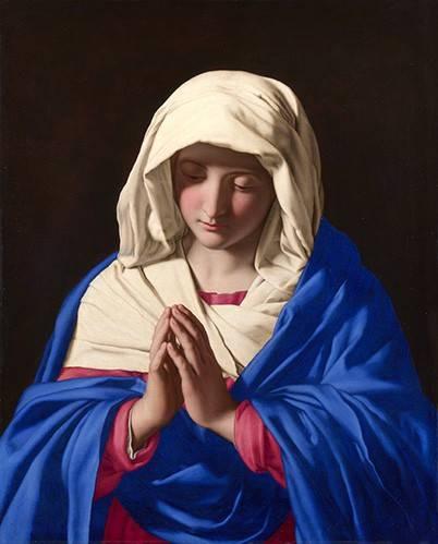 cuadros-religiosos - Cuadro -La Virgen rezando, 1640-50- - Sassoferrato