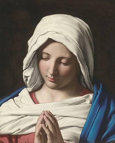 cuadros-religiosos - Cuadro -La VIrgen Rezando- - Sassoferrato