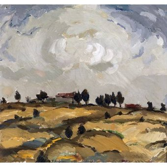- Cuadro -Autumn landscape with clouds- - Aalto, Ilmari