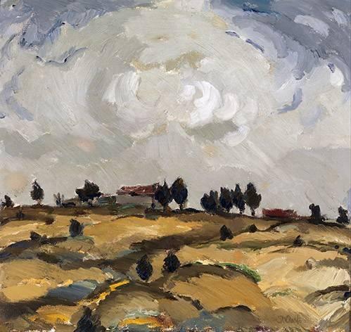 cuadros-de-paisajes - Cuadro -Autumn landscape with clouds- - Aalto, Ilmari