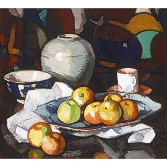 - Cuadro -Still life apples and jar- - Peplow, Samuel