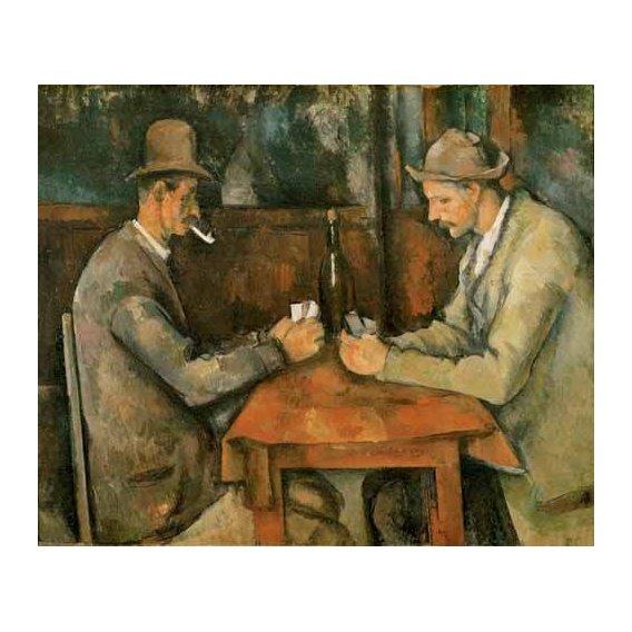 cuadros de retrato - Cuadro -Los jugadores de cartas, 1890-