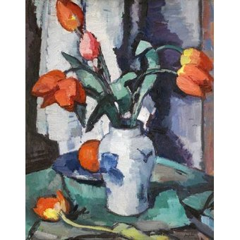 - Cuadro -Orange tulips, Chinese Vase- - Peplow, Samuel