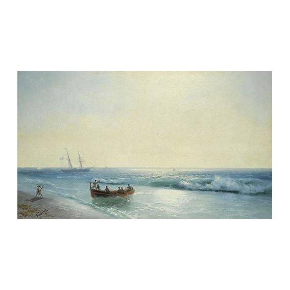 cuadros de marinas - Cuadro -Sailors coming ashore-