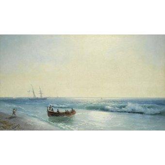 cuadros de marinas - Cuadro -Sailors coming ashore- - Aivazovsky, Ivan Konstantinovich