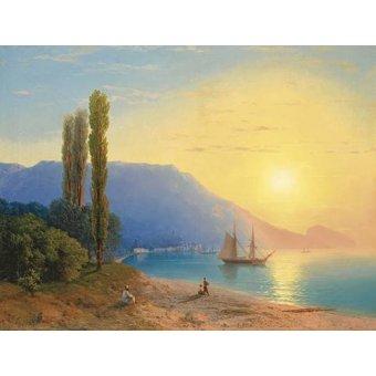 cuadros de marinas - Cuadro -Atardecer sobre Yalta- - Aivazovsky, Ivan Konstantinovich