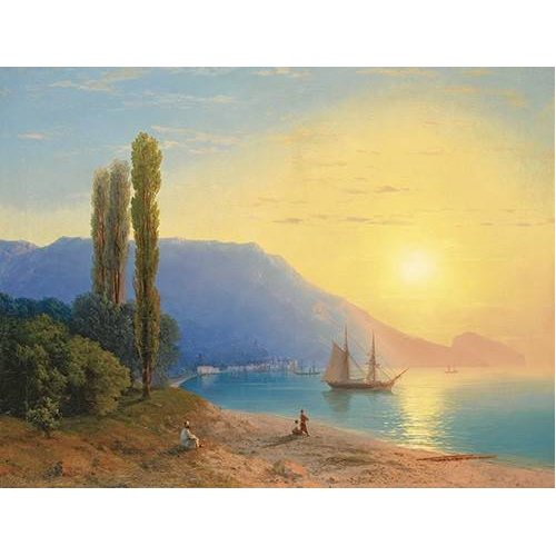 Cuadro -Atardecer sobre Yalta-