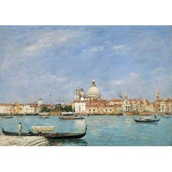 cuadros de marinas - Cuadro -Venice, Santa Maria della Salute from San Giorgio- - Boudin, Eugene