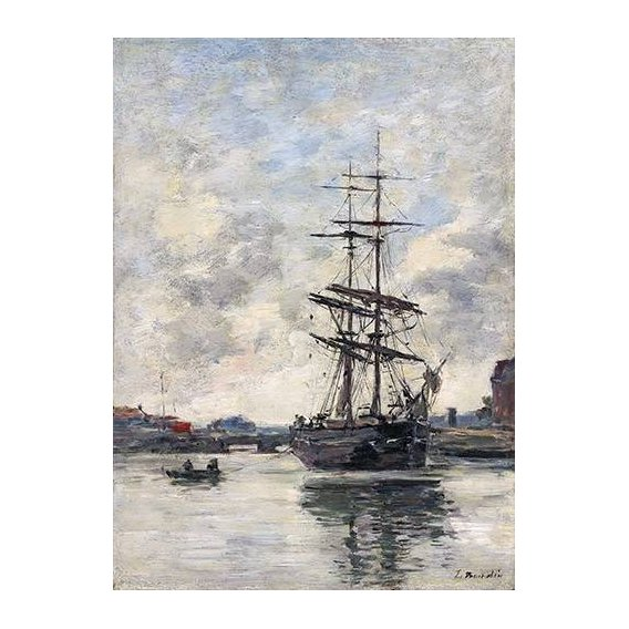 cuadros de marinas - Cuadro -Ship on the Touques, 1888-