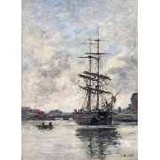 Cuadro -Ship on the Touques, 1888-