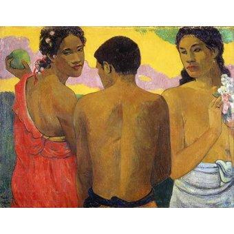 - Cuadro -Tres Tahitianos- - Gauguin, Paul