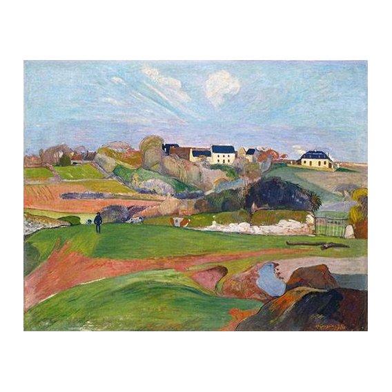 cuadros de paisajes - Cuadro -Paisaje en Le Pouldu, 1890-