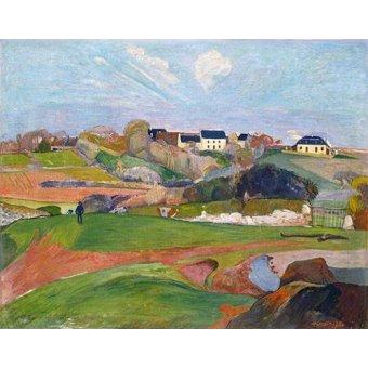 - Cuadro -Paisaje en Le Pouldu, 1890- - Gauguin, Paul