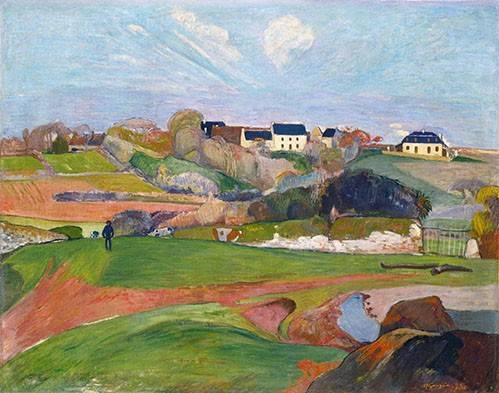 cuadros-de-paisajes - Cuadro -Paisaje en Le Pouldu, 1890- - Gauguin, Paul