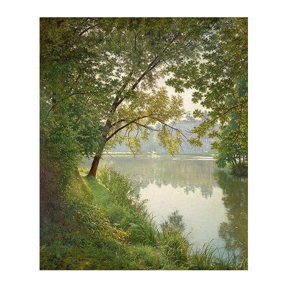 cuadros de paisajes - Cuadro -Matin à Villeneuve-