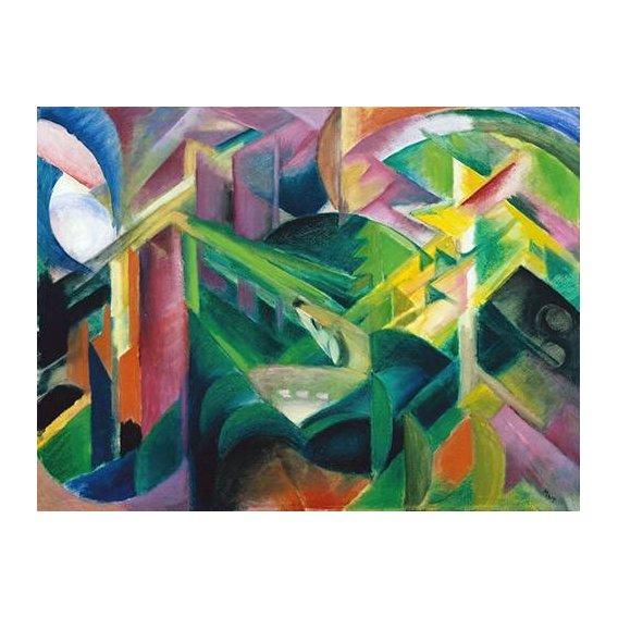 cuadros abstractos - Cuadro -Deer in a Monastery Garden-