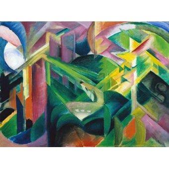 cuadros abstractos - Cuadro -Deer in a Monastery Garden- - Marc, Franz
