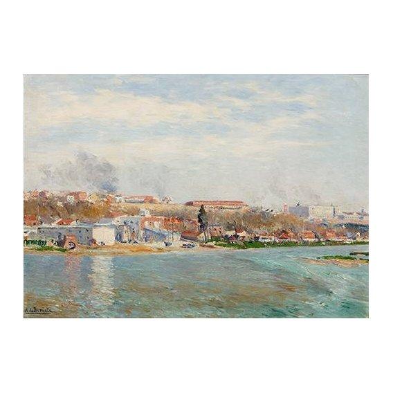 cuadros de paisajes - Cuadro -Madrid Desde El Manzanares-