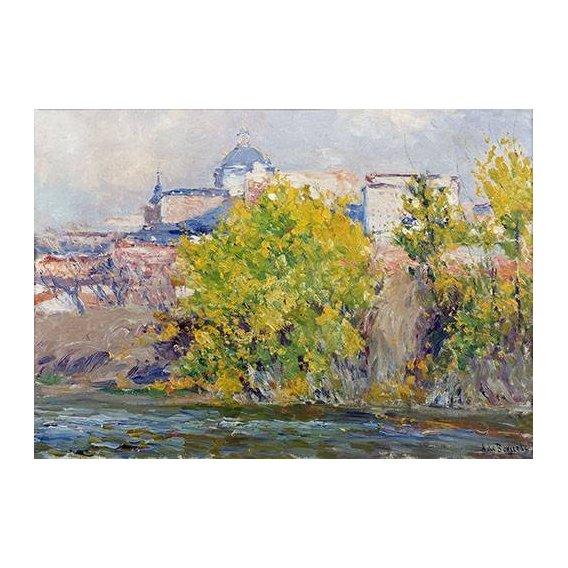 cuadros de paisajes - Cuadro -Orillas del Manzanares-