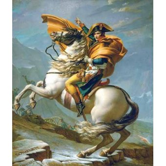cuadros de retrato - Cuadro -Bonaparte cruzando los Alpes, 1801- - David, Jacques Louis