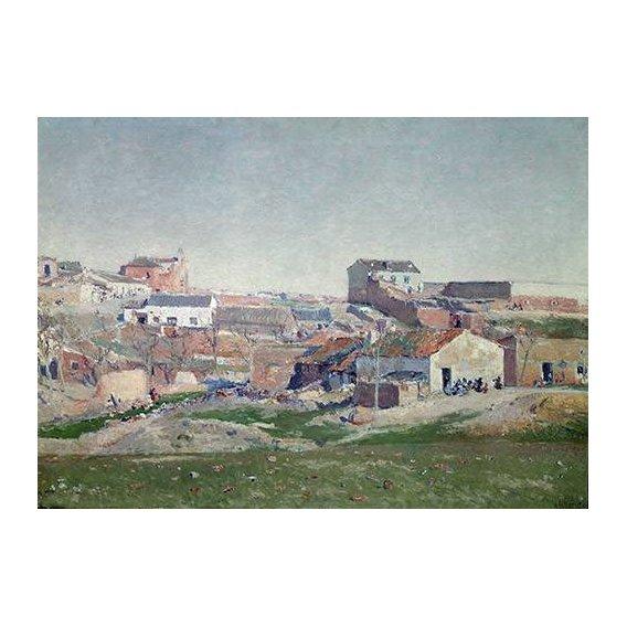 cuadros de paisajes - Cuadro -Barrio de Bellas Vistas (Afueras de Madrid)-