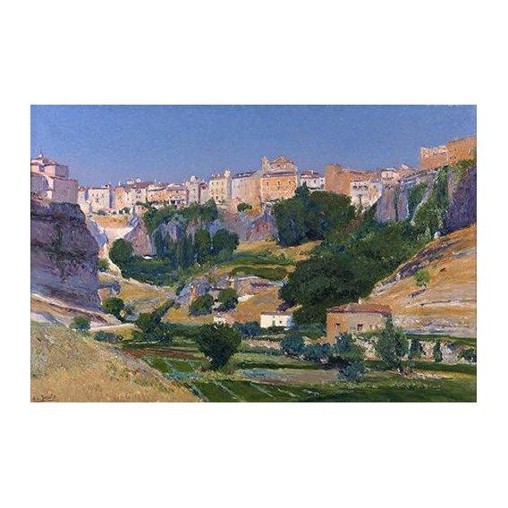cuadros de paisajes - Cuadro -Las huertas (Cuenca)-