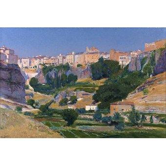 - Cuadro -Las huertas (Cuenca)- - Beruete, Aureliano de